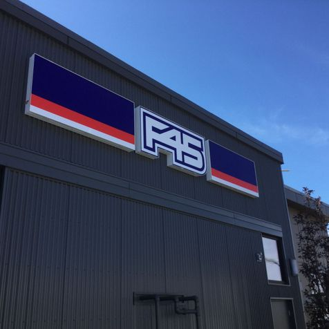 Installed F45 signage