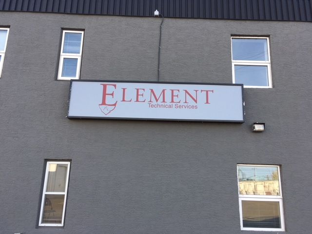 Element illuminated sign