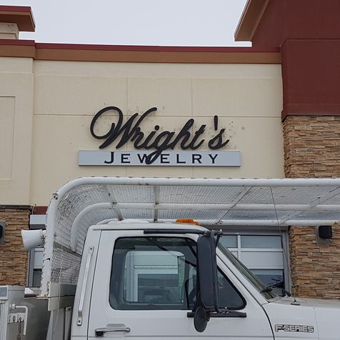 Installed Wrights's Jewelry Signage