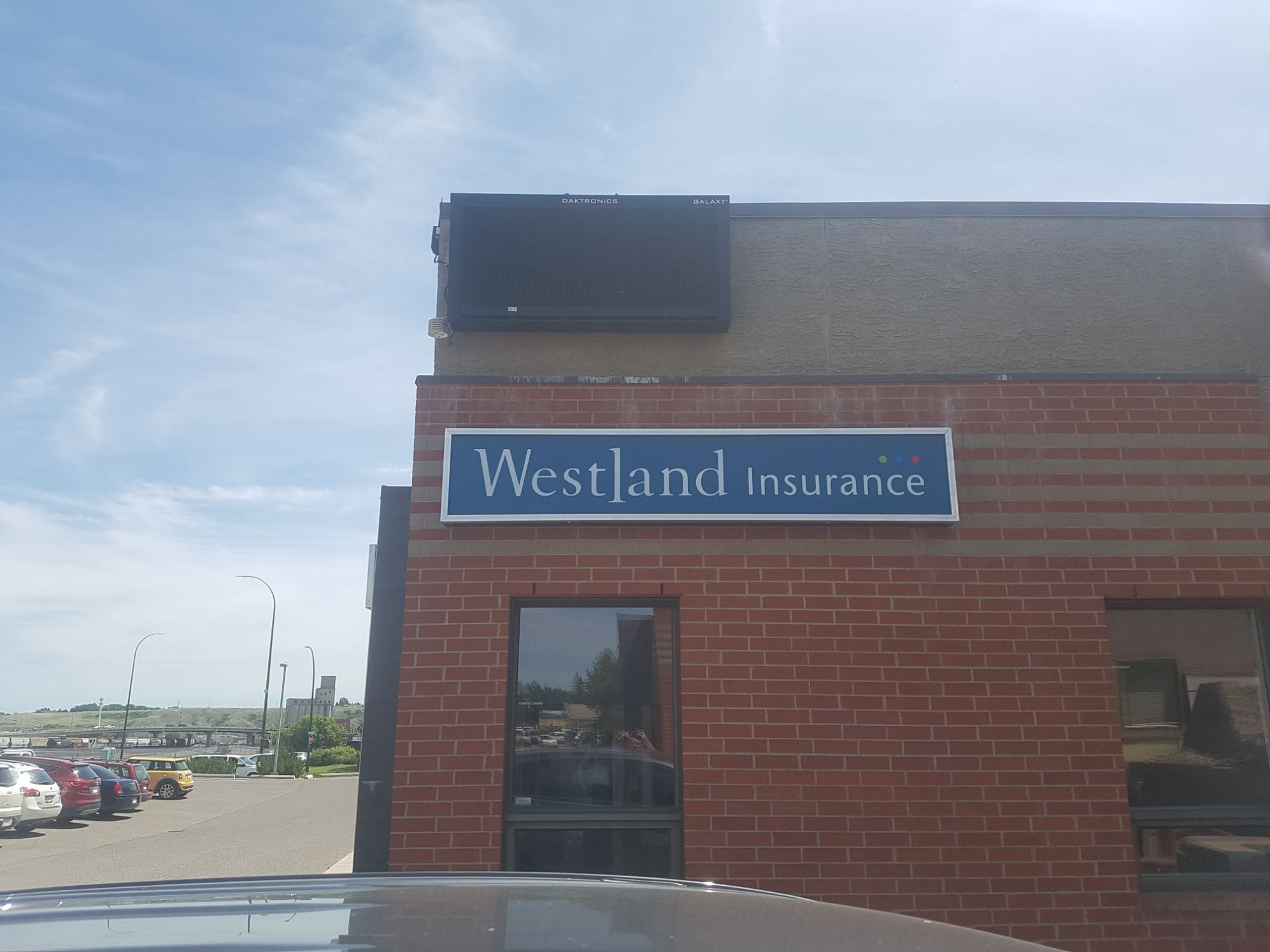 Westland Insurance illuminated sign