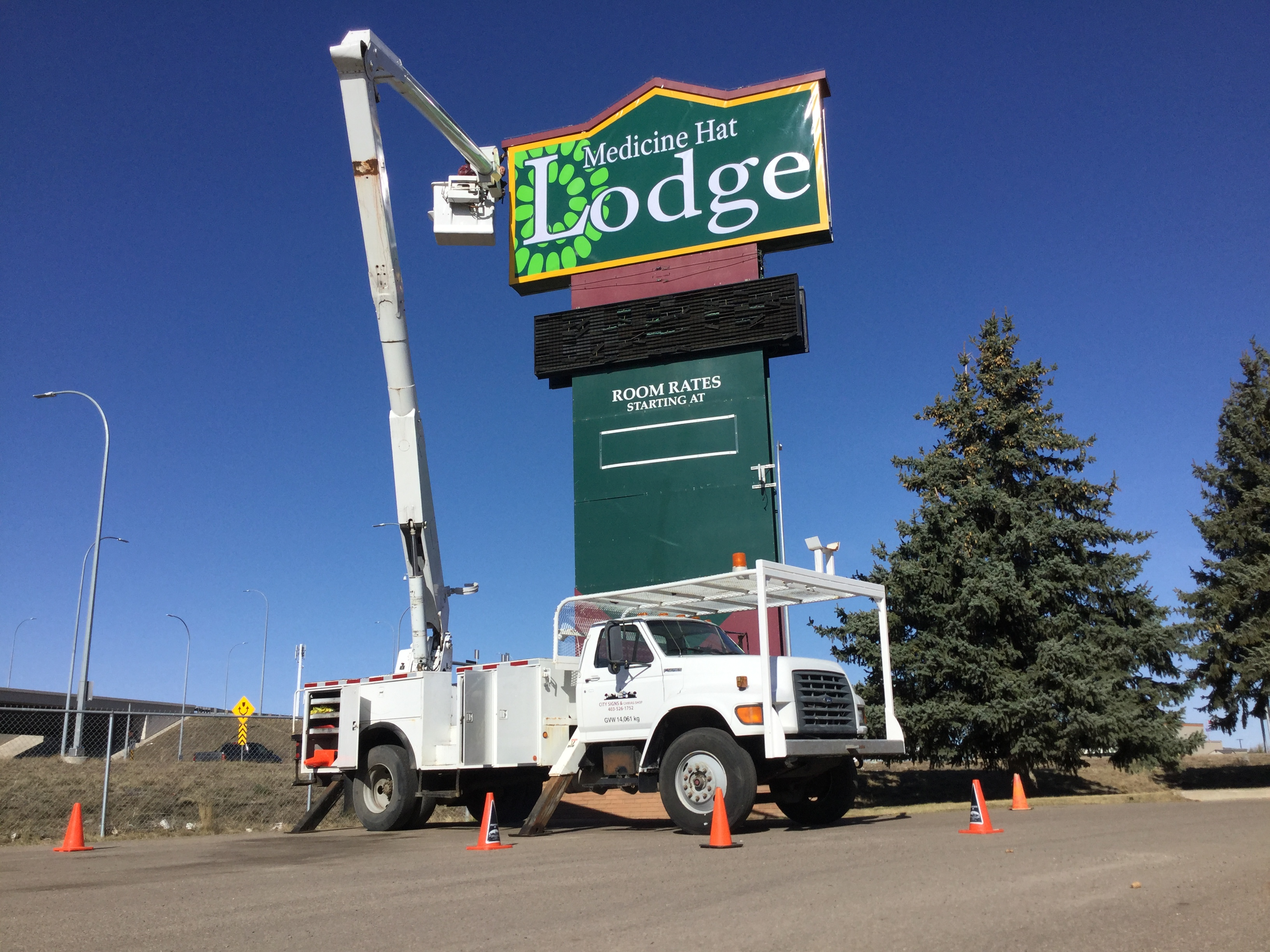 Installed Lodge Signage