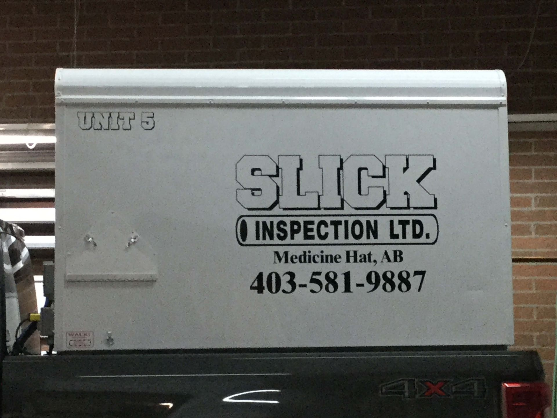 Slick inspection Ltd signage for trailer
