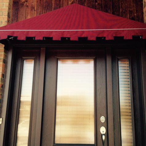 Maroon color awning