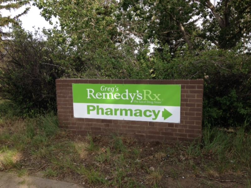 Remedy's RX pharmacy signage