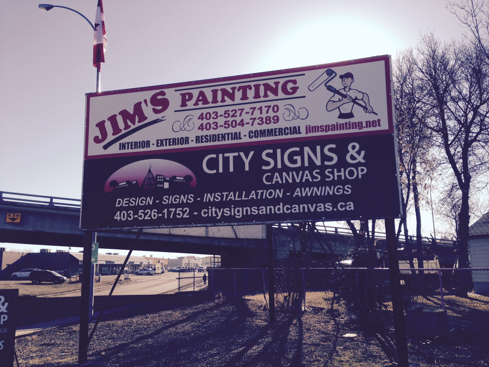 Installed Jim's Painting Signage